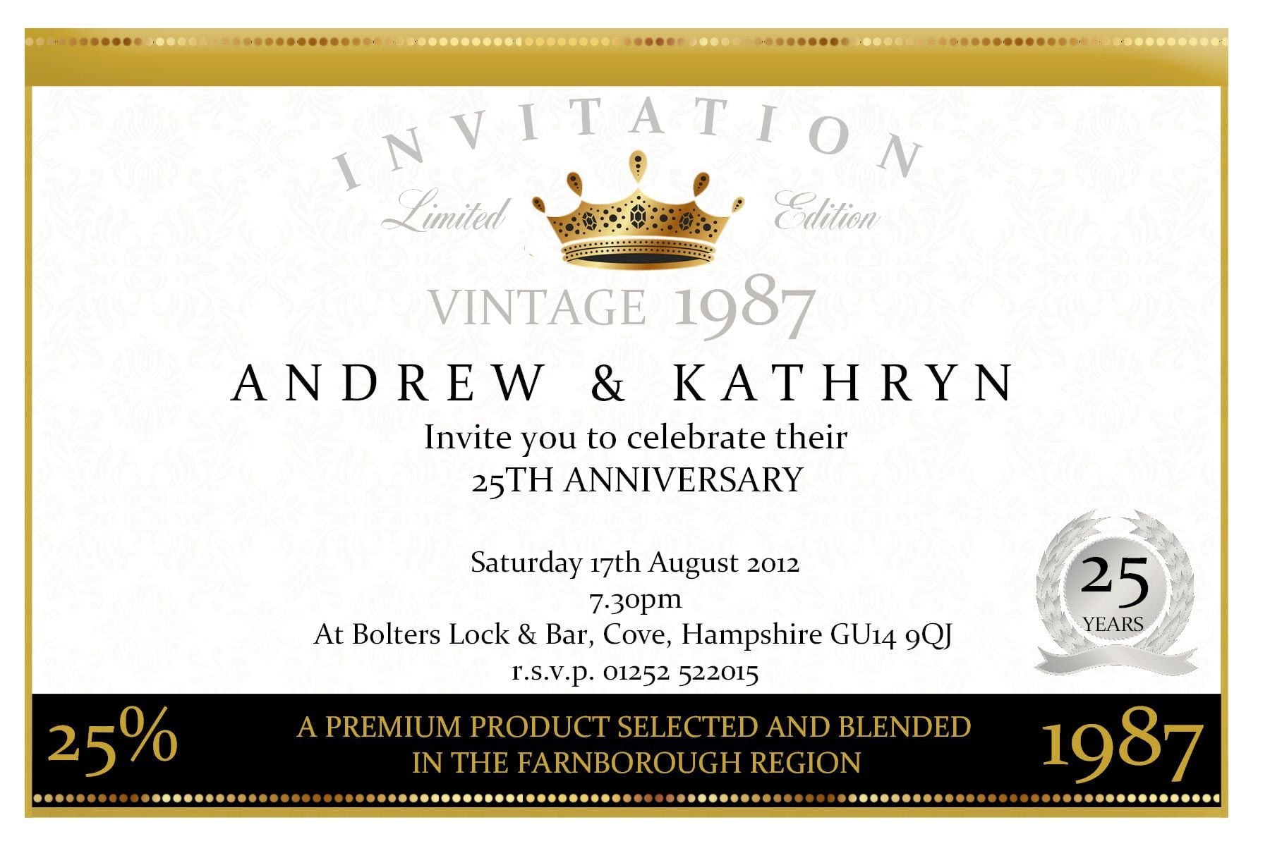 Free Wedding Anniversary Invitation Templates 3