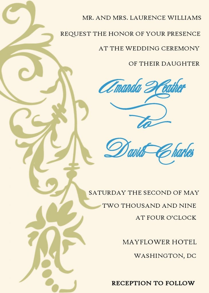 Free Wedding Anniversary Invitation Templates 4