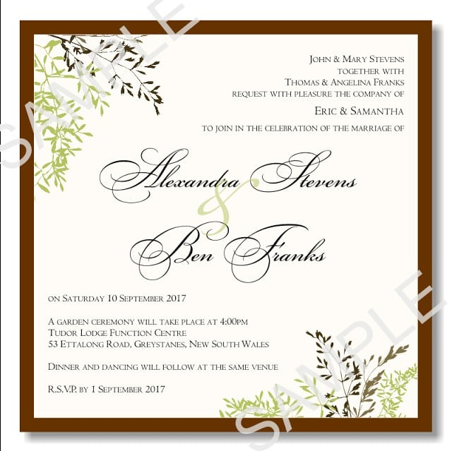 Free Wedding Invitation Template Free Downloads 4