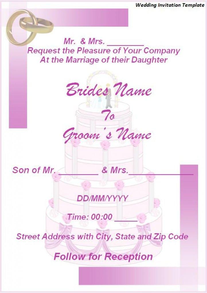 Free Wedding Invitation Templates Downloads 3