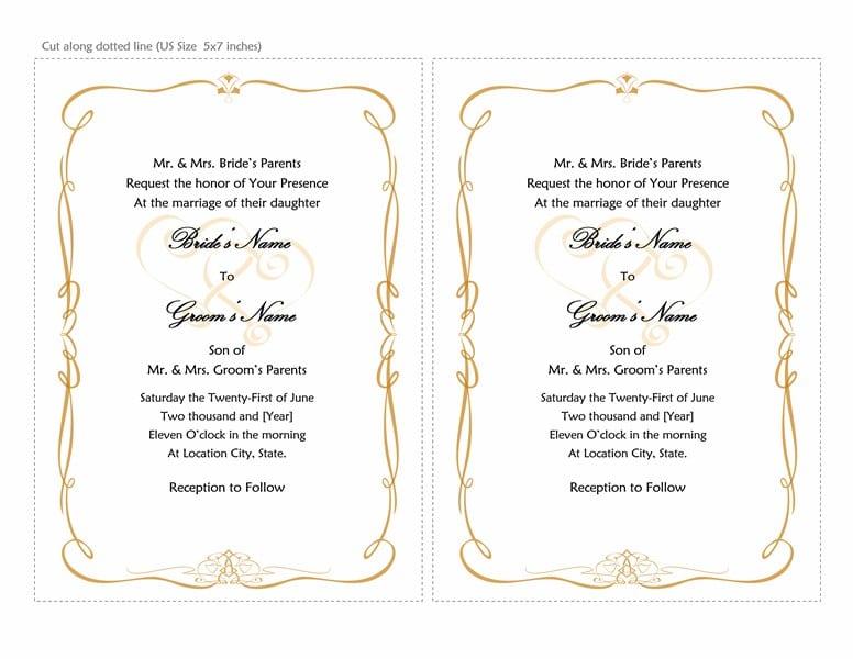 Free Wedding Invitation Templates Downloads 4