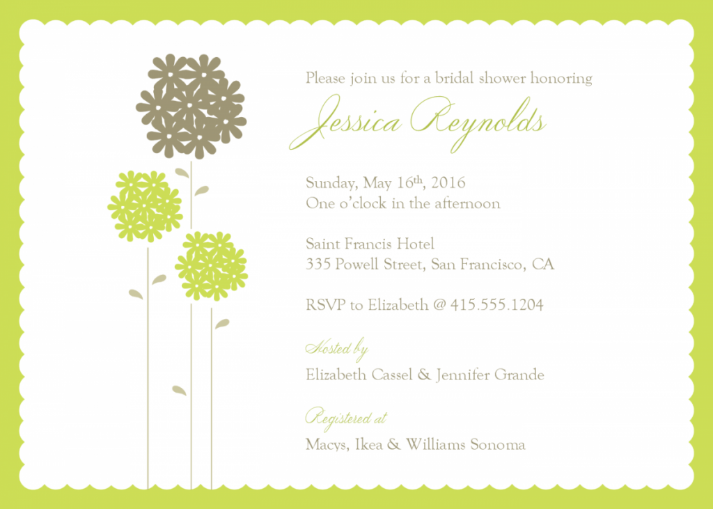 Wedding Shower Invitations Templates For Word Baby Shower – Microsoft Office Invitation Templates Free Download