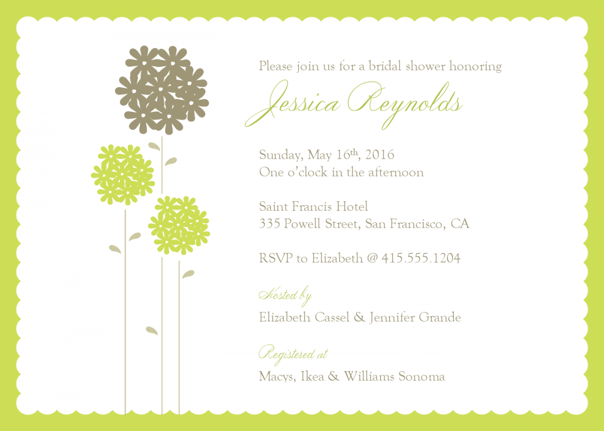 Free Wedding Shower Invitation Templates for your inspiration to make invitation template look beautiful