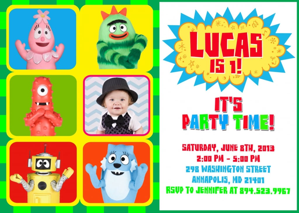 Free Yo Gabba Gabba Birthday Invitations Templates