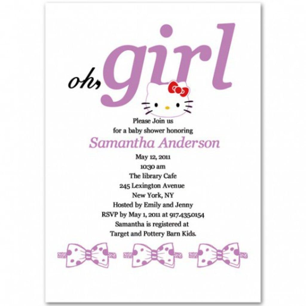 Girl Party Invitation Hello Kitty 2