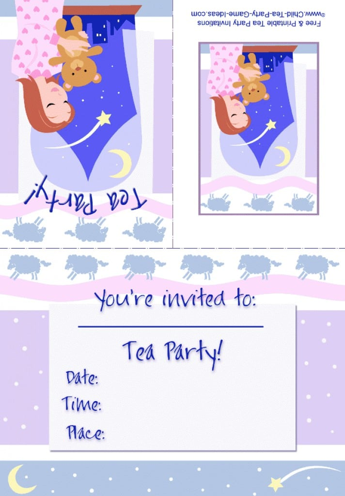 Girls Slumber Birthday Party Invitations