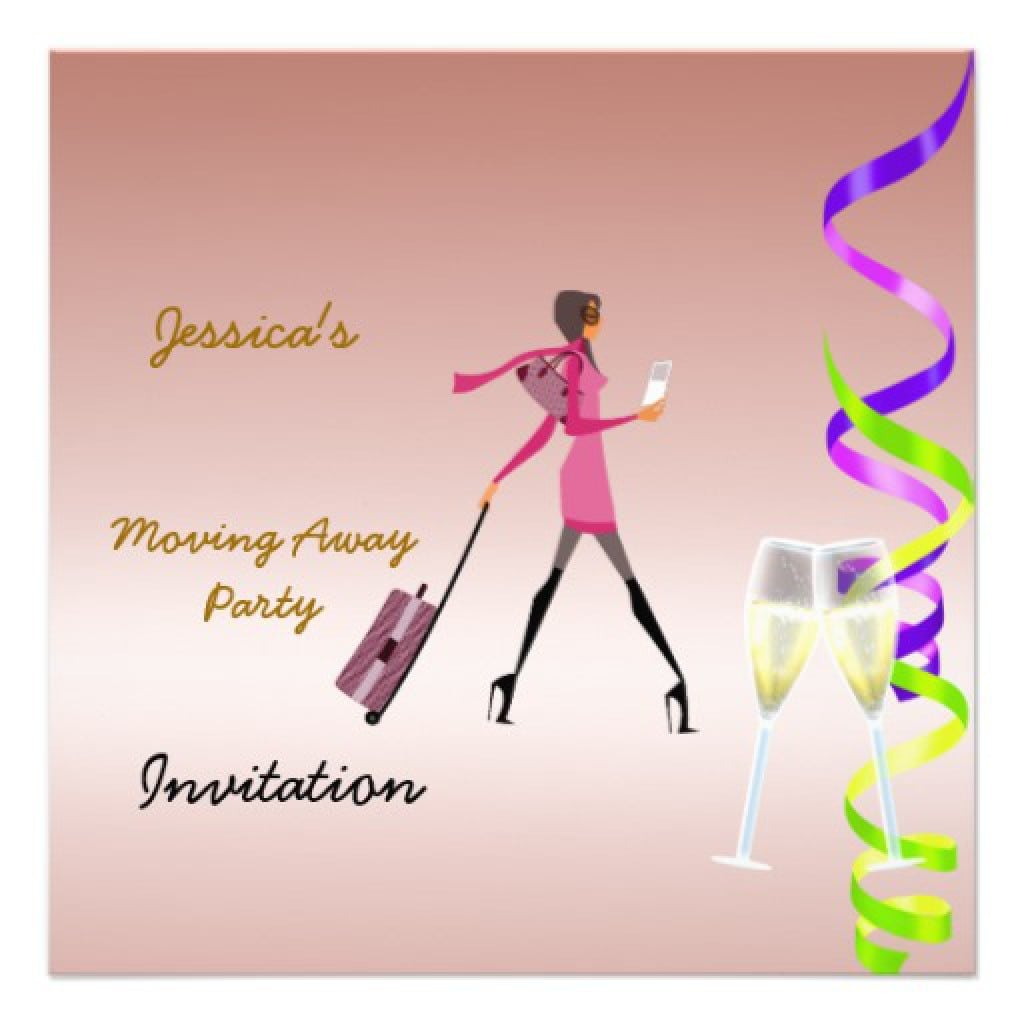 Going Away Party Invitations Free 3