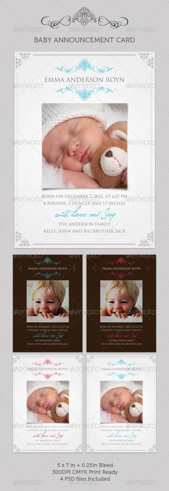 Graphicriver Baby Christening Invitation Templates