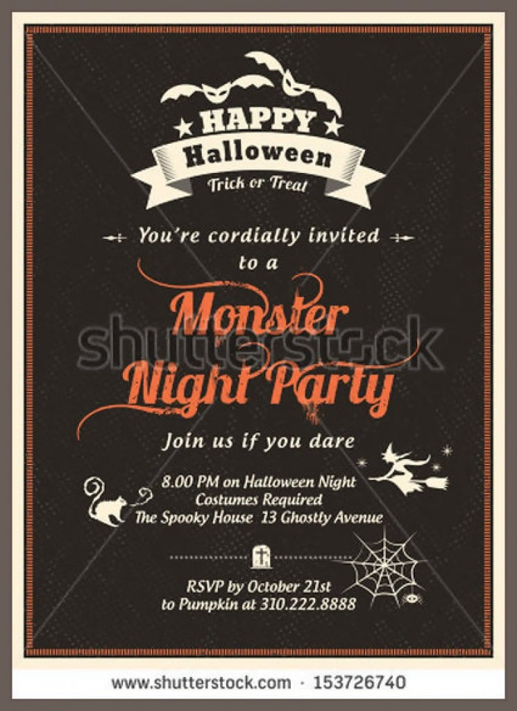 Halloween Housewarming Party Invitations 3