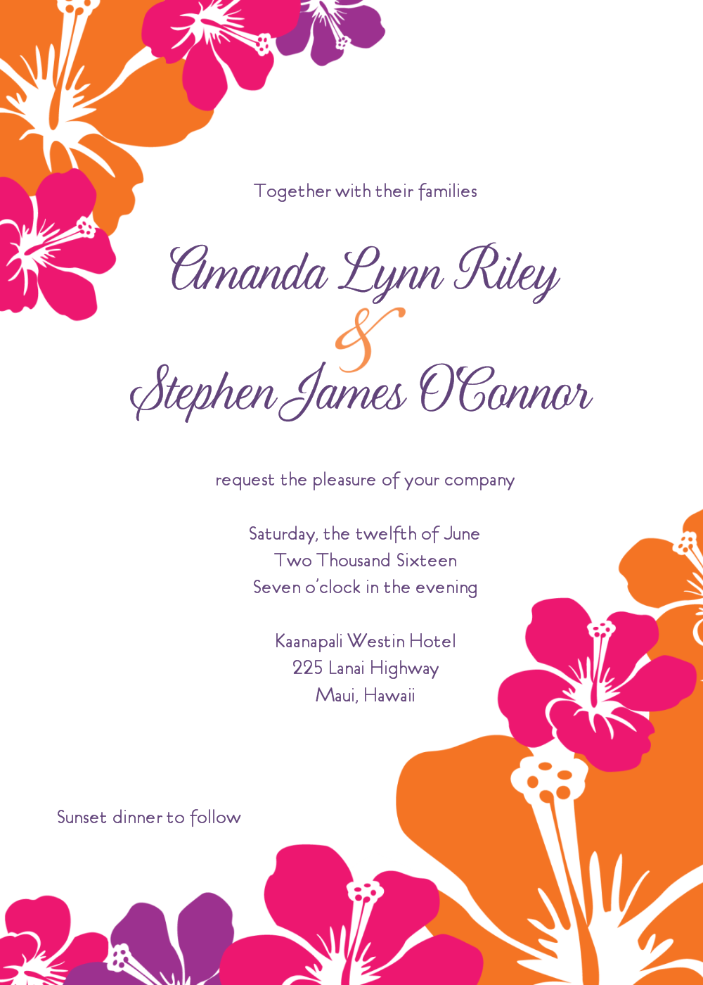 Hawaiian Invitation Templates Free