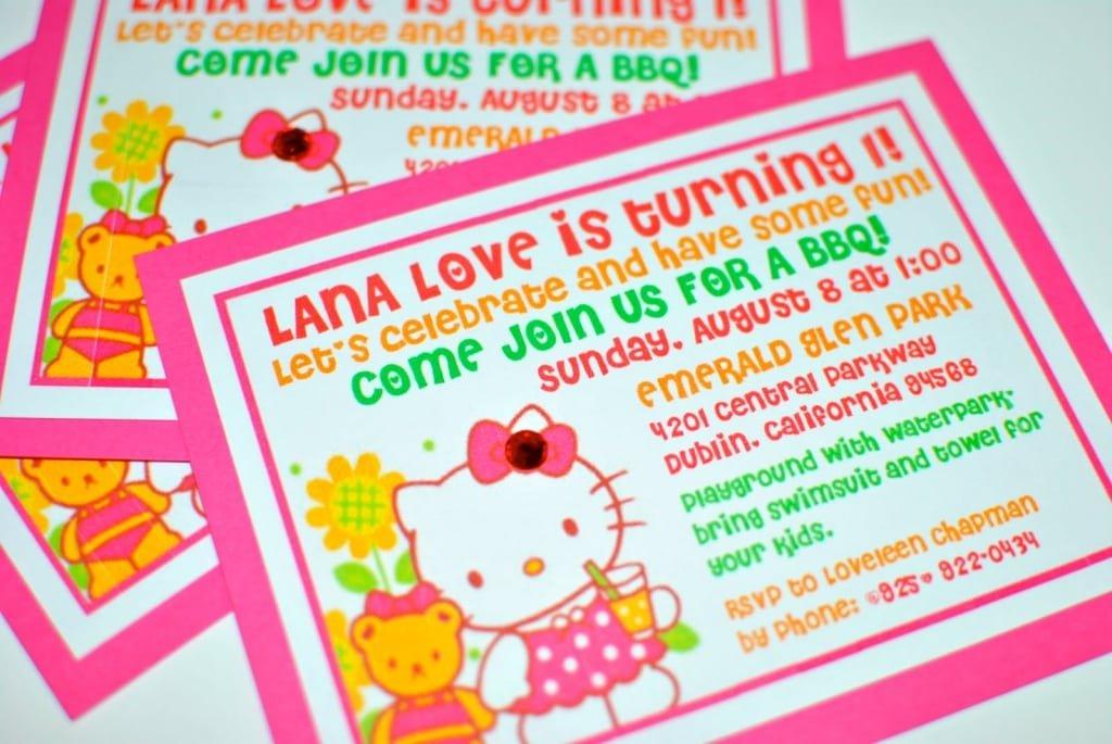 Hello Kitty 1st Birthday Invitations Uk