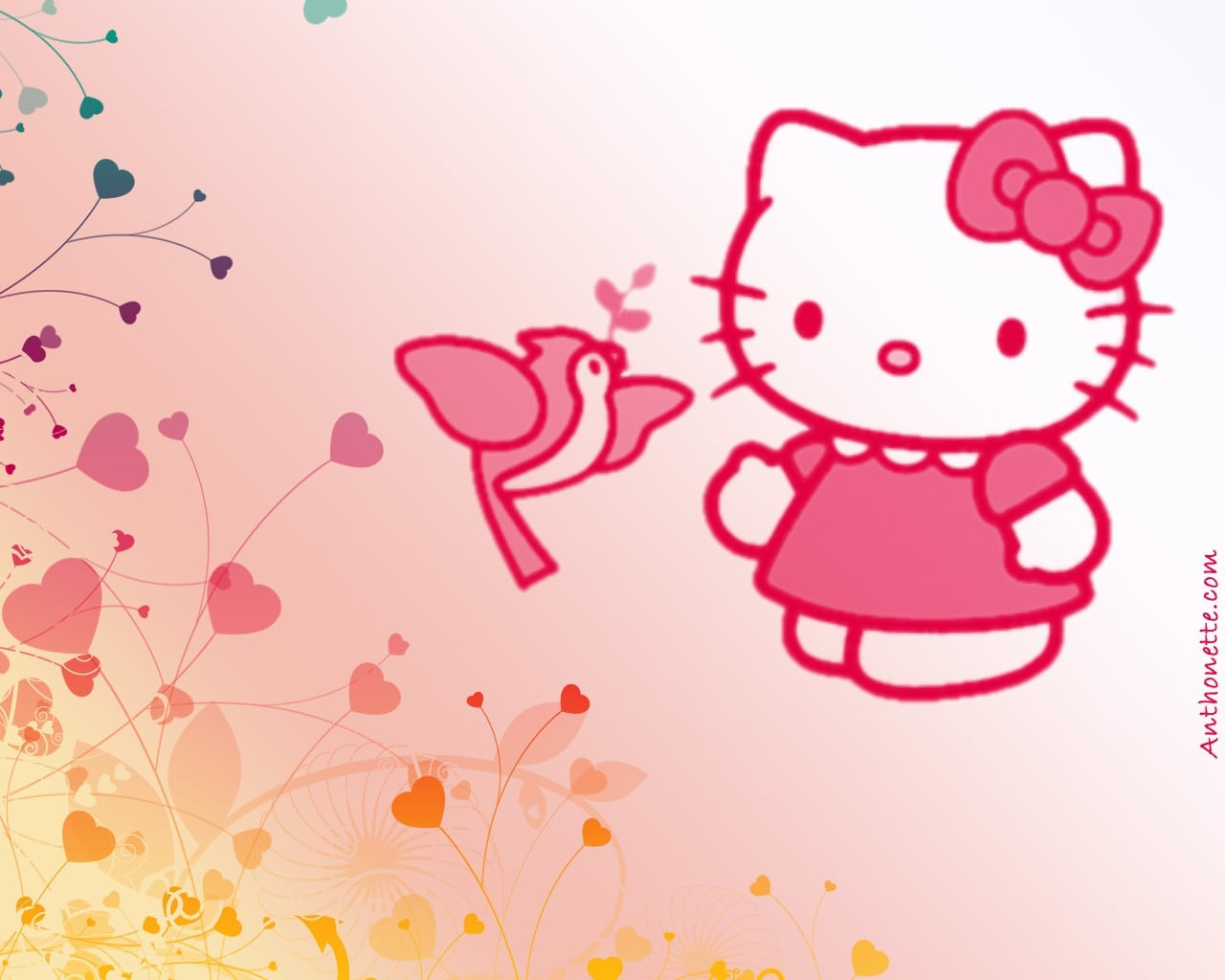 Hello Kitty Background Invitation 3