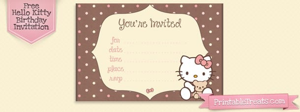 Hello Kitty Background Invitation 5