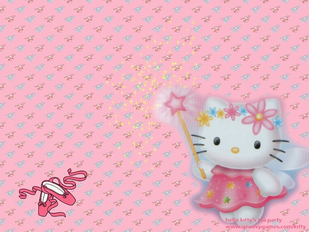 Hello Kitty Background Invitation