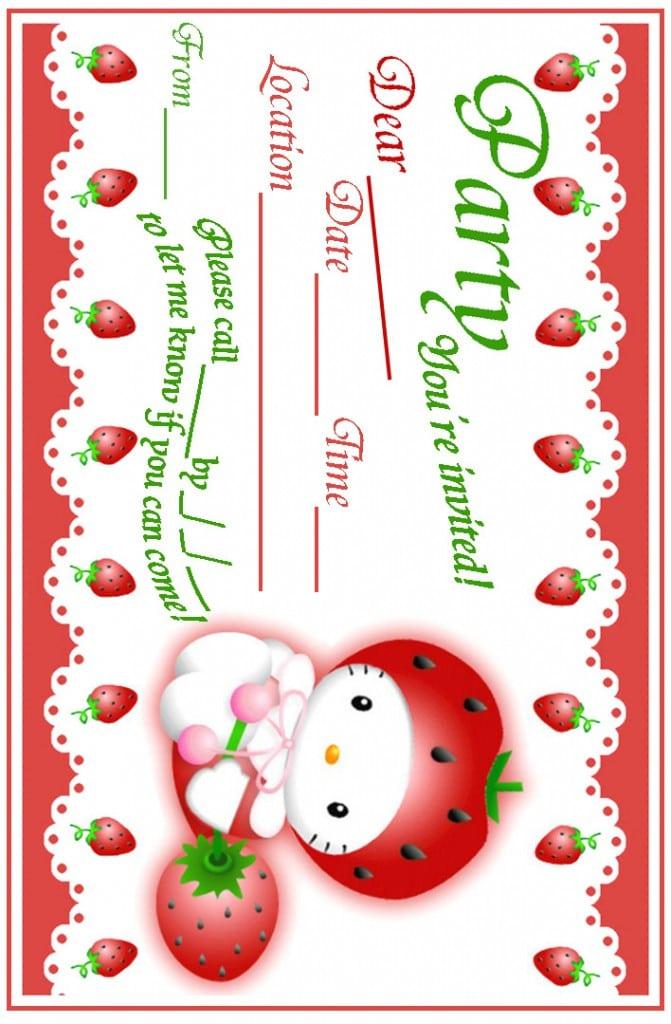 Hello Kitty Birthday Invitation Free Templates 3