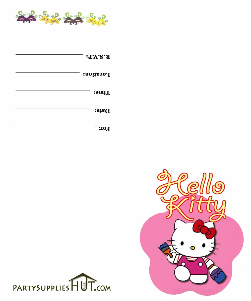 Hello Kitty Birthday Invitation Free Templates 4