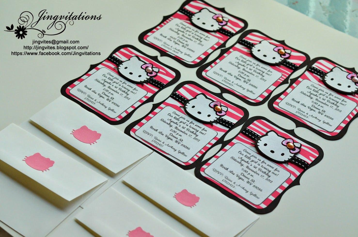 Hello Kitty Birthday Invitation Free Templates 5