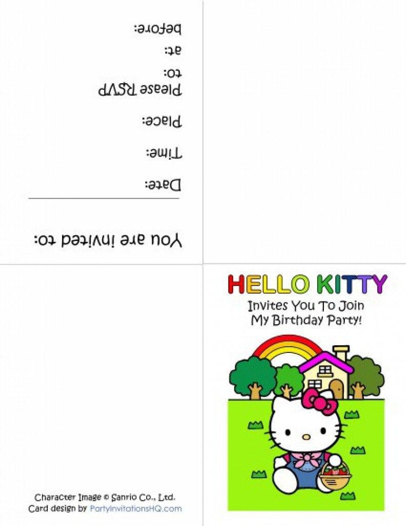 Hello Kitty Birthday Invitation Printable 3