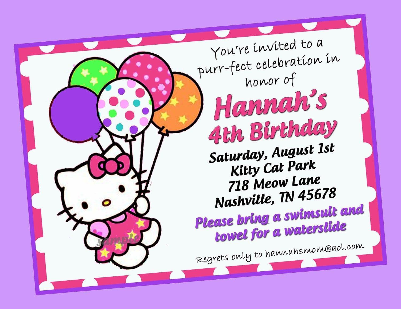 Hello Kitty Birthday Invitation Printable 5