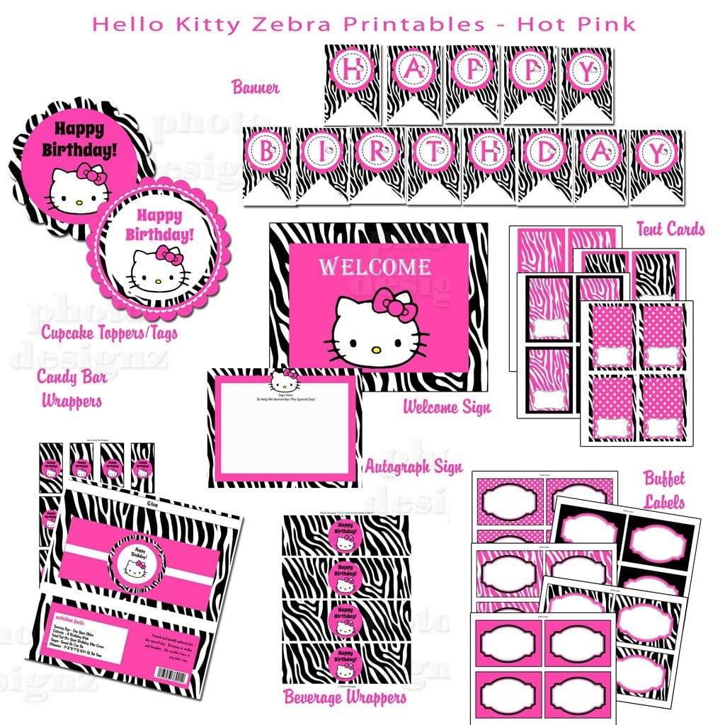 Hello Kitty Invitation Printable livmooretk – Hello Kitty Printable Birthday Invitations