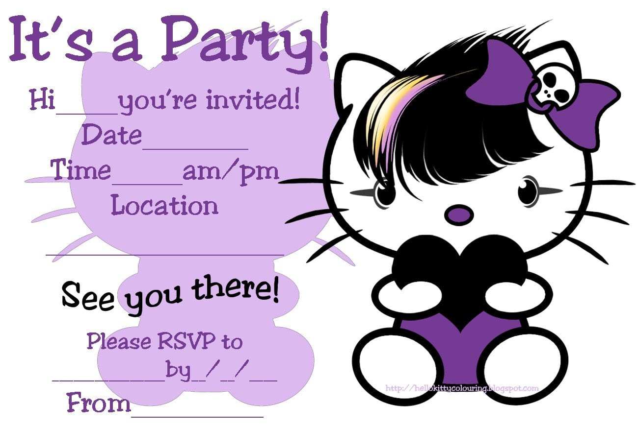 Hello Kitty Birthday Invitation Printable Free 4