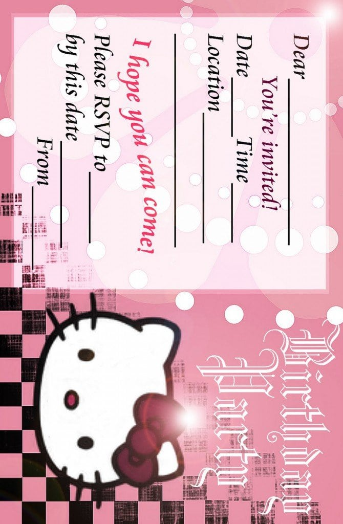 Hello Kitty Birthday Invitation Printable Free 5