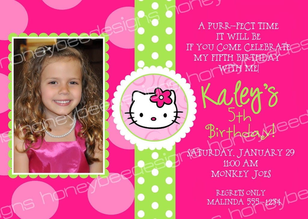 Hello Kitty Birthday Invitations Templates 2