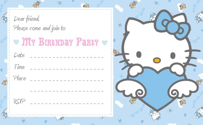 Hello Kitty Birthday Invitations Templates 3