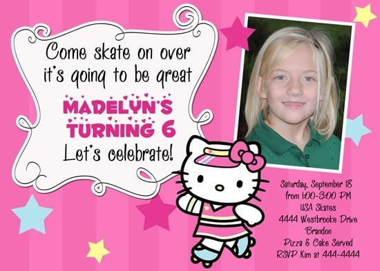 Hello Kitty Birthday Invitations Templates 5
