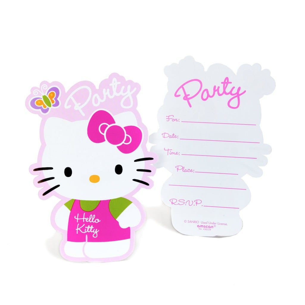 Hello Kitty Birthday Invitations Templates