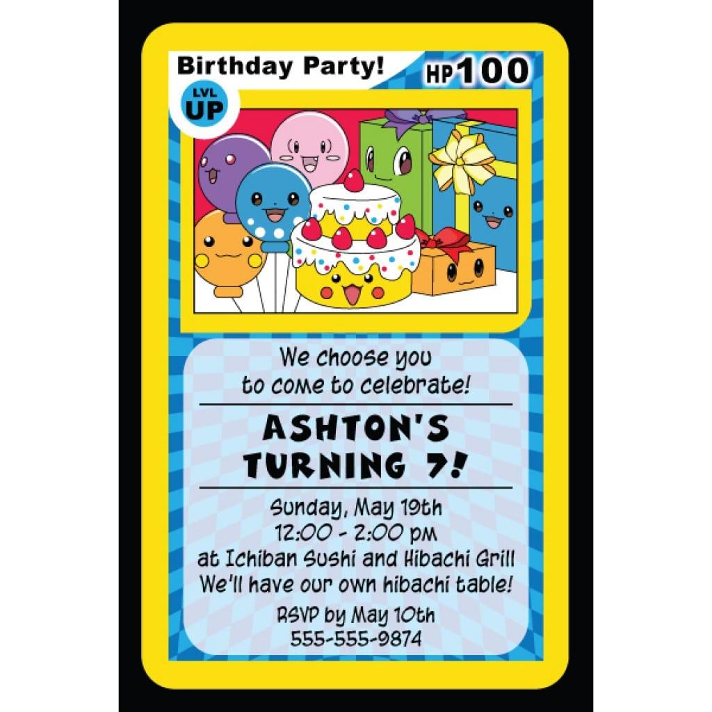Hello Kitty Birthday Party Invitation Empty