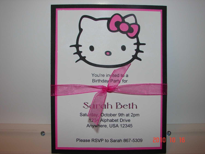 hello kitty free invitation template 4