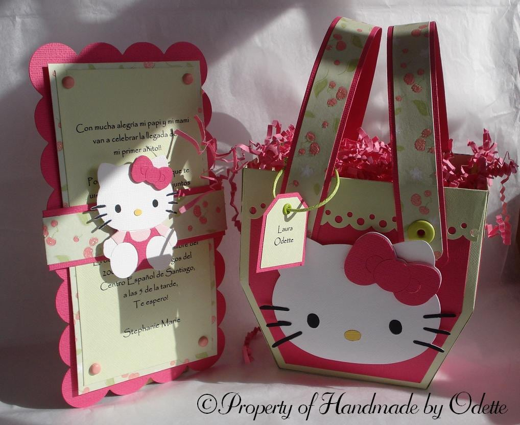 Hello Kitty Free Invitation Template 5