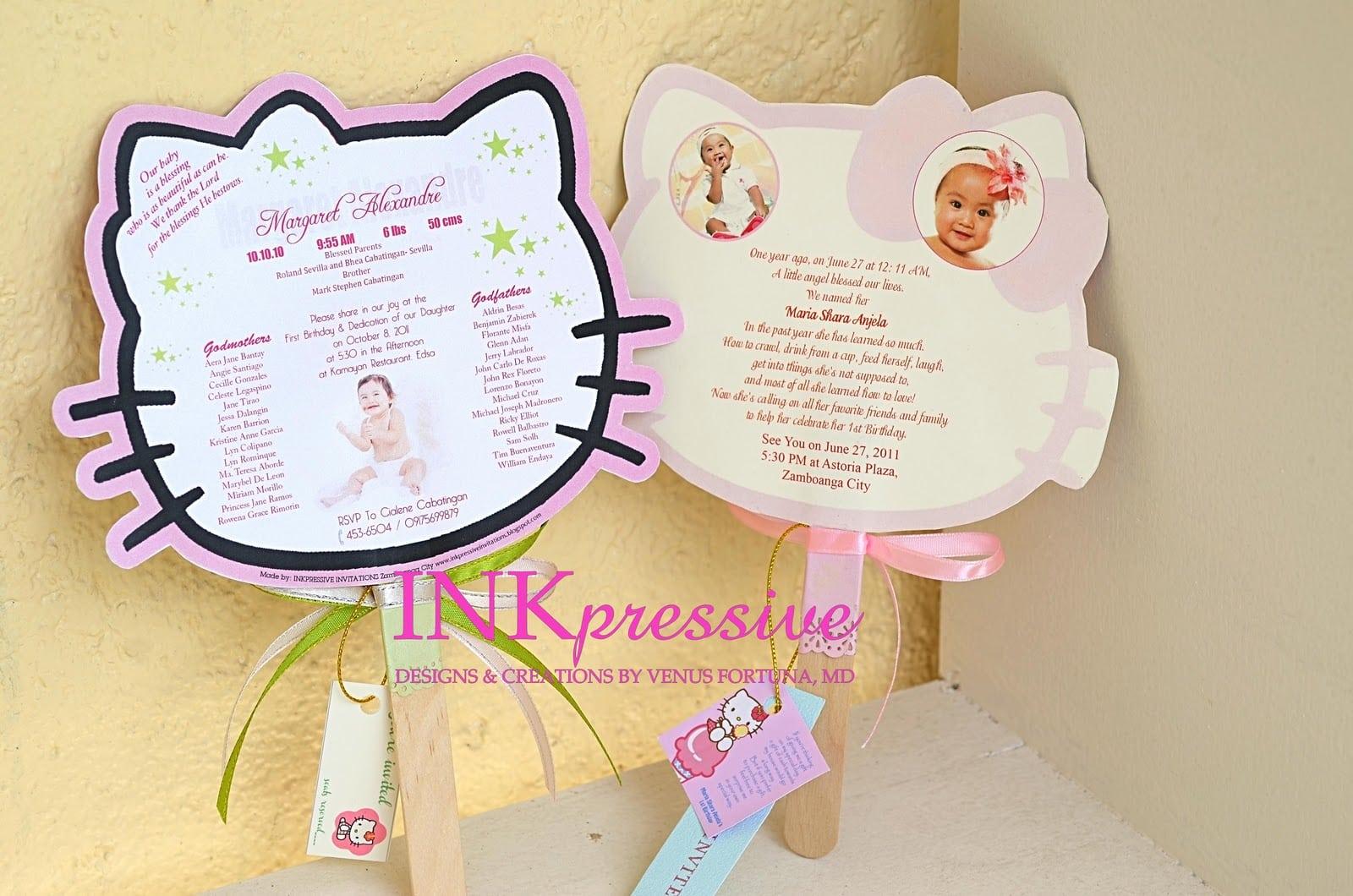 Hello Kitty Invitation Baptismal