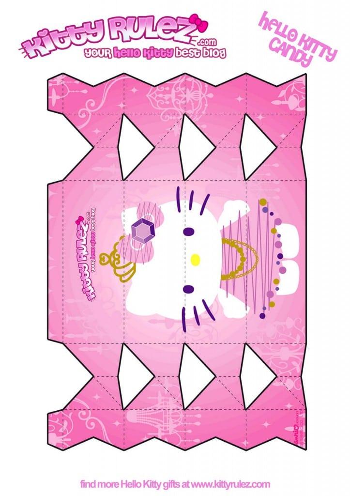Hello Kitty Invitation Blank Template 2