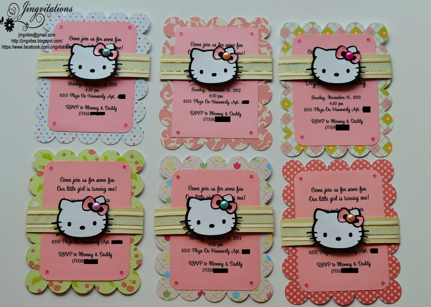Hello Kitty Invitations Christening 2