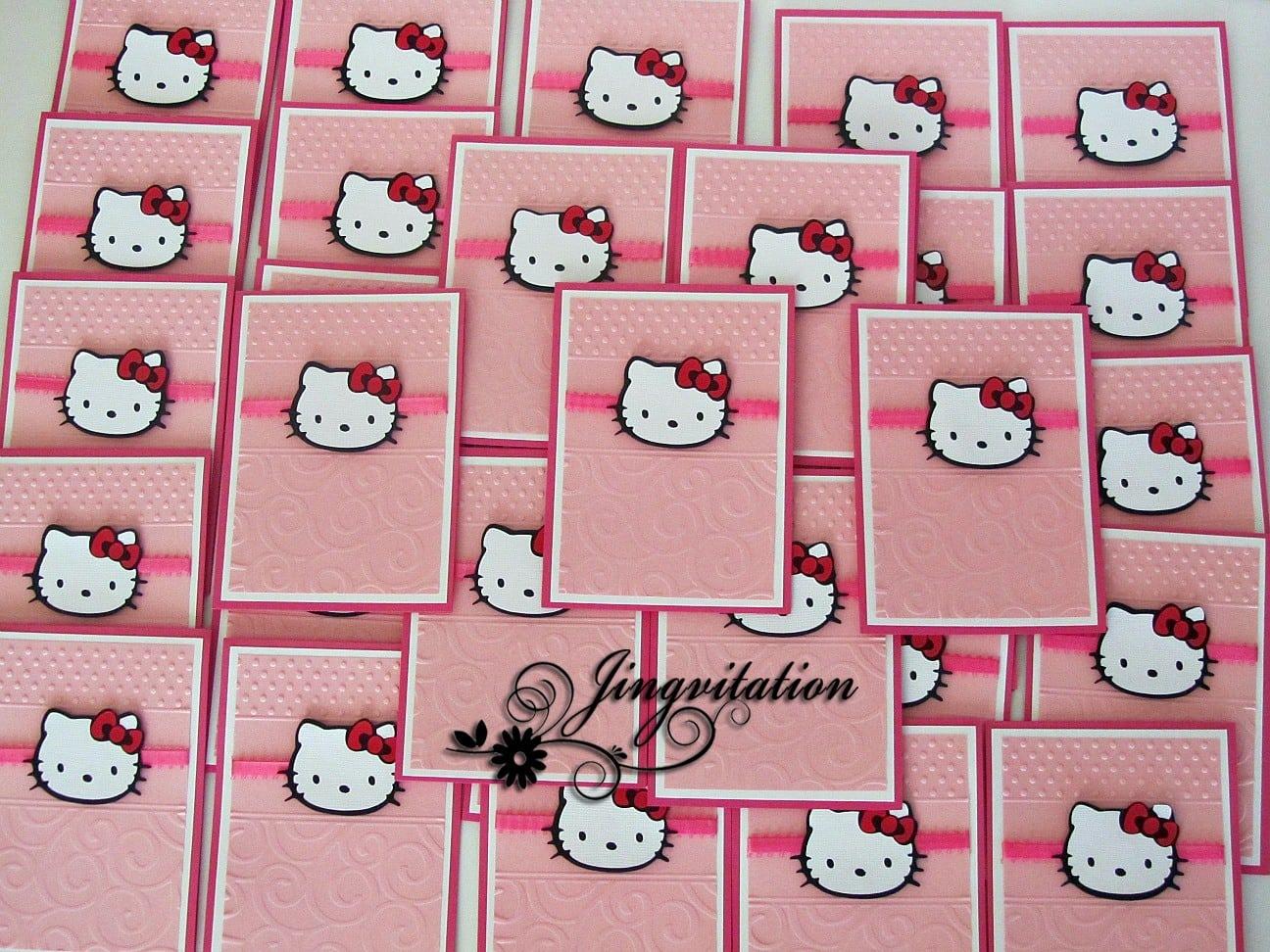 Hello Kitty Invitations Christening 3