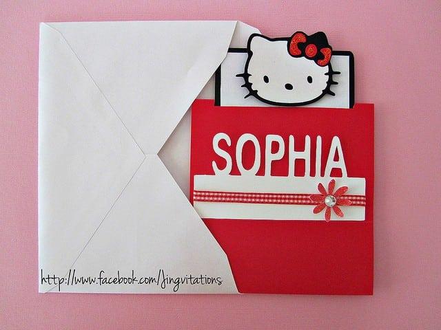 Hello Kitty Invitations Christening 4