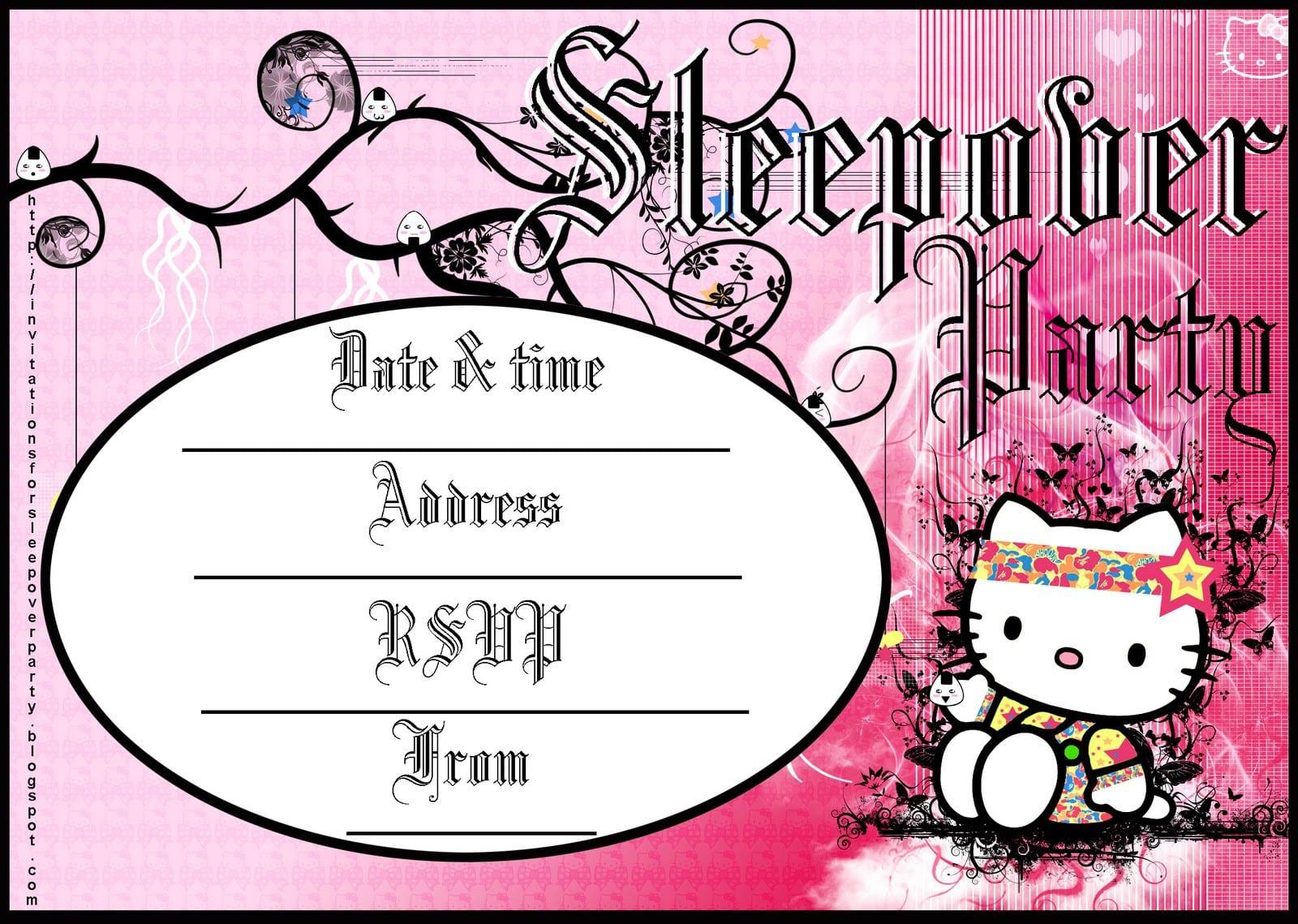 Hello Kitty Invites For Birthdays 2