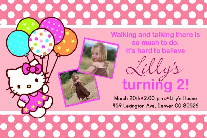 Hello Kitty Invites For Birthdays 5