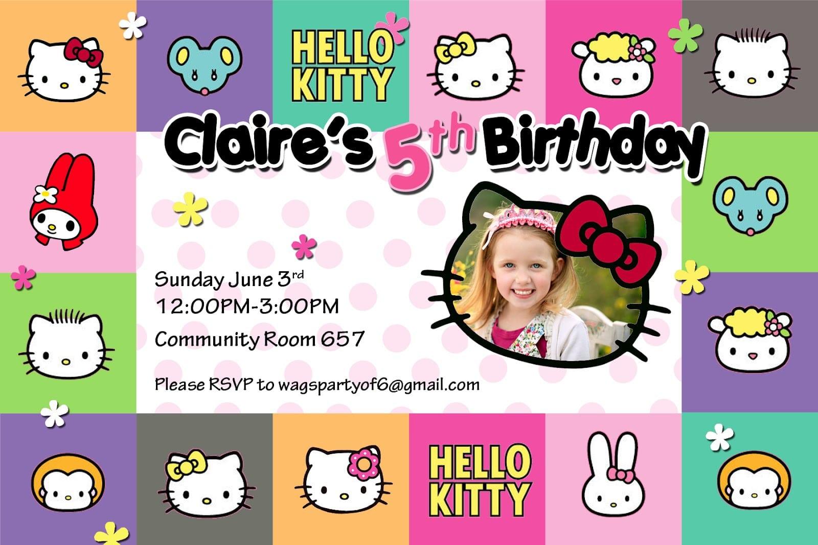 Hello Kitty Invites For Birthdays