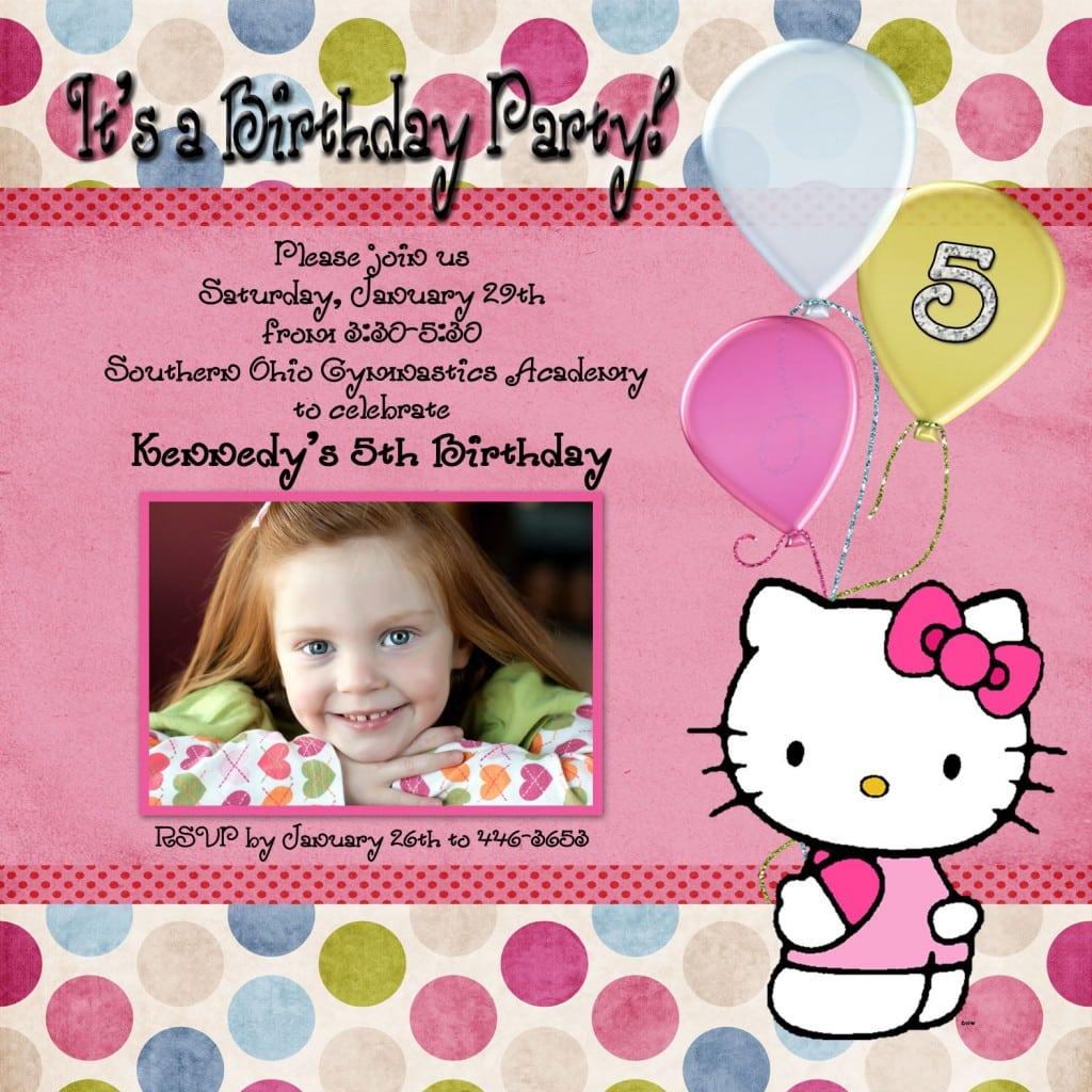 Hello Kitty Invites For Swim Party 5
