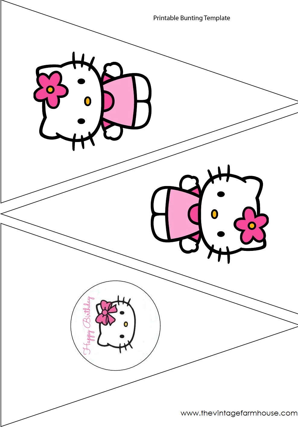 Hello Kitty Party Templates