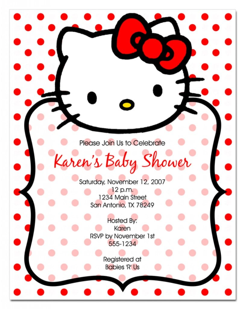 Hello Kitty Png Invite