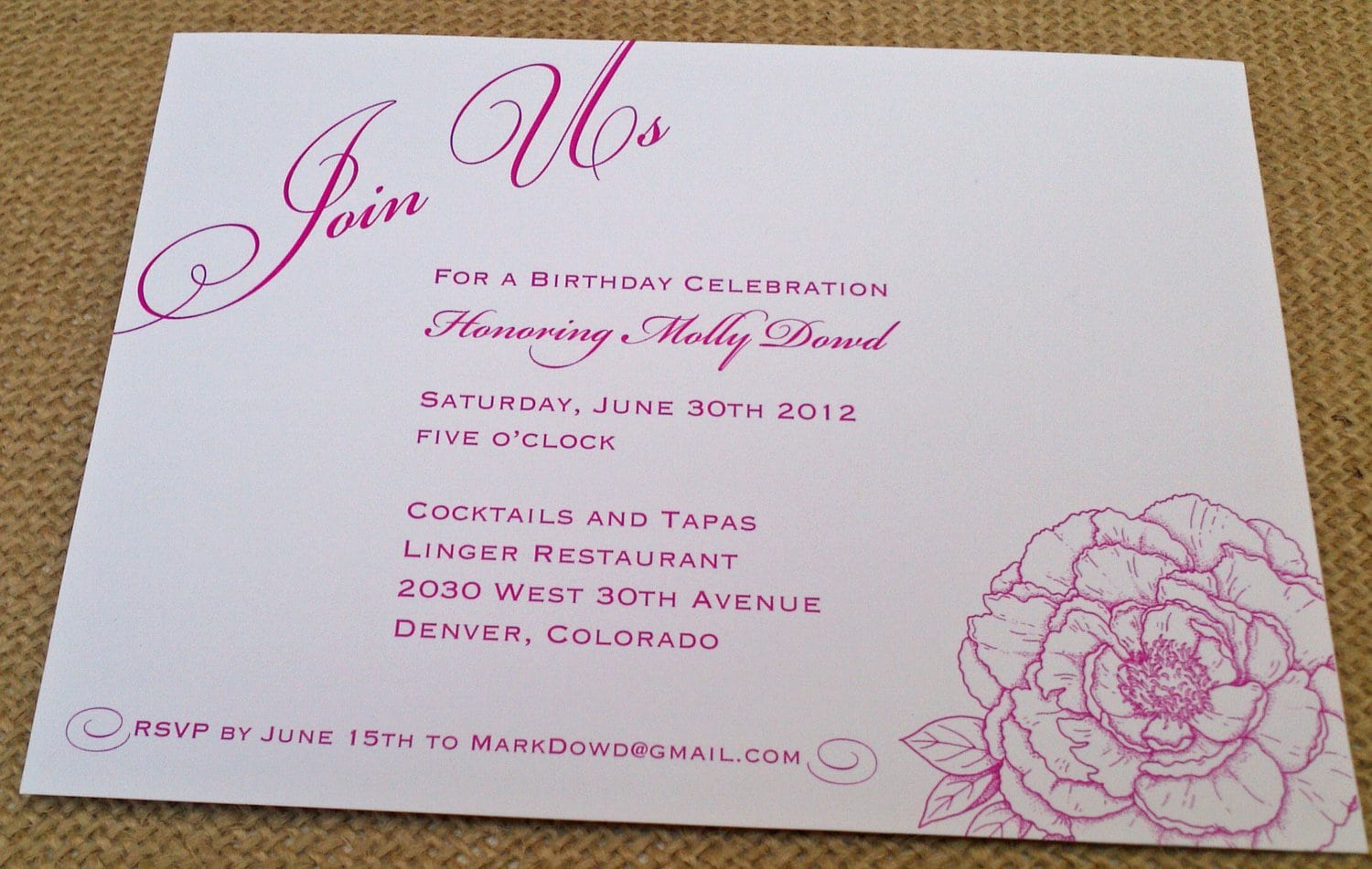 High Tea Invitations Wording