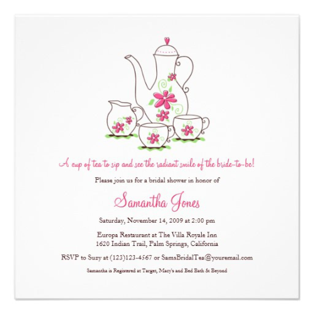 High Tea Invite Template Free 5