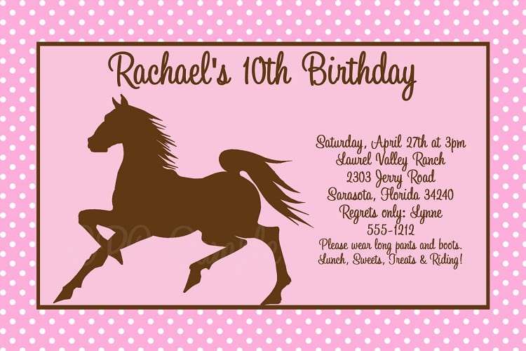 Horse Party Invitations was very inspiring ideas you may choose for invitation ideas