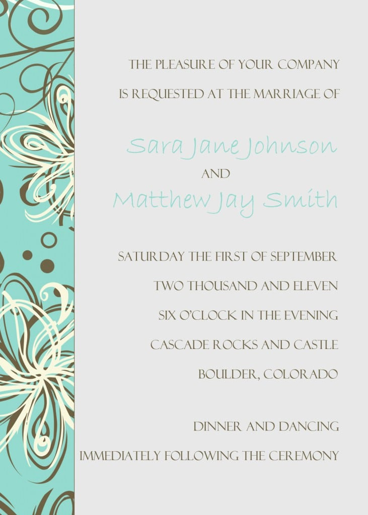 Invitation Template  Formal Invitation Templates Free