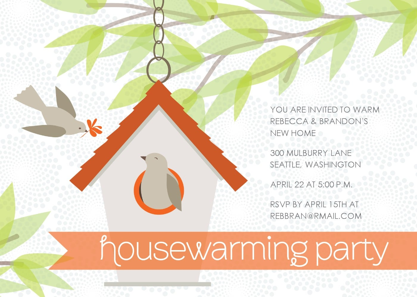 Housewarming Party Invitations Free Template