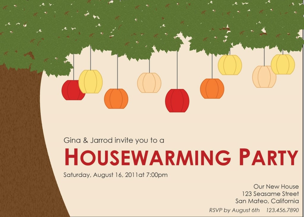 Housewarming Party Invitations Template